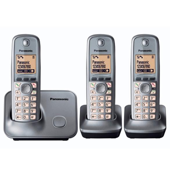 panasonic kx tg6613 tr dl s telefon med 3 h nds t. Black Bedroom Furniture Sets. Home Design Ideas
